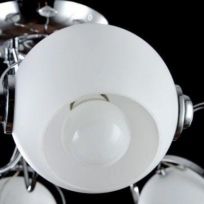 futurystyczna lampa sufitowa biało-srebrna