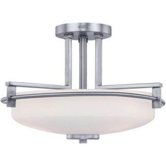 Lampa sufitowa Taylor – Ardant Decor – chrom, mleczne szkło