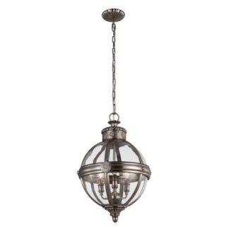 Okrągła lampa wisząca Adams - Ardant Decor - antyczny nikiel