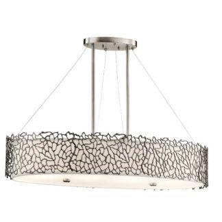 Nowoczesna lampa wisząca Adeza – Ardant Decor – srebrna, owalna