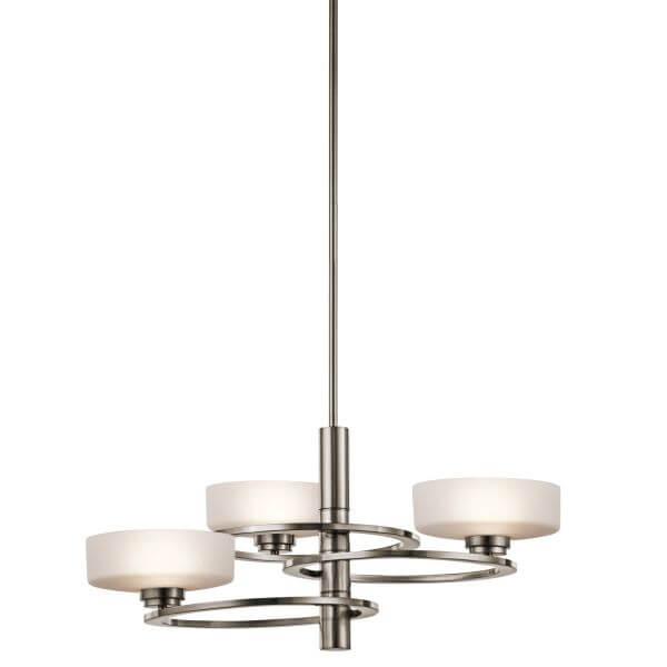 nowoczesny żyrandol szklany - salon minimalistyczny aranżacja