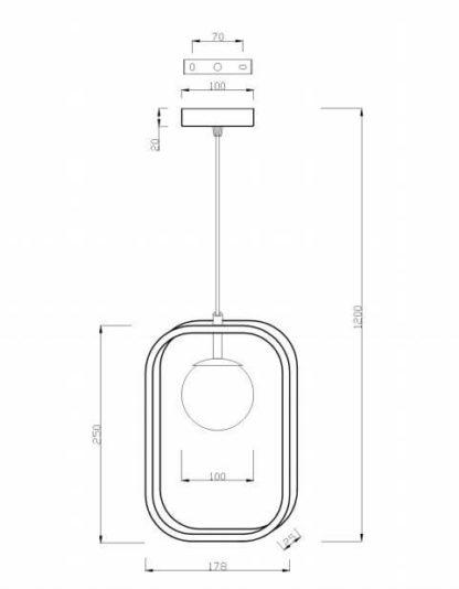 lampa wisząca w stylu nowoczesnym, połączenie metalu i szkła, biała