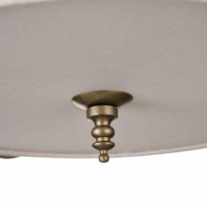lampa wisząca z białym abażurem zamkniętym też na dole