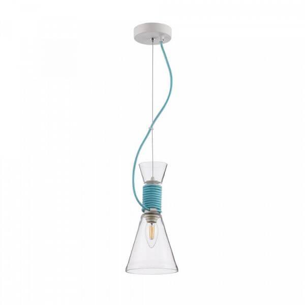 Szklana lampa wisząca California - Maytoni - bezbarwna, niebieska