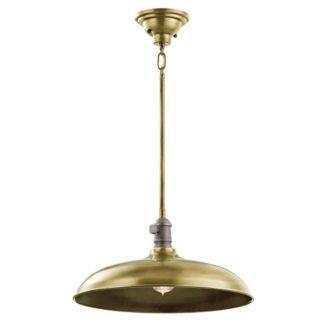 Industrialna lampa wisząca Cobson - Ardant Decor - metalowa, brązowa