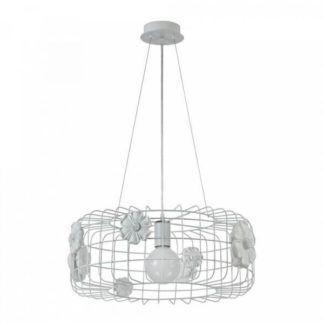 Ażurowa lampa wisząca Freeflow - Maytoni - biały klosz