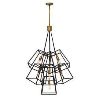 Industrialna lampa wsząca Fulton - Ardant Decor - metalowa, brązowa