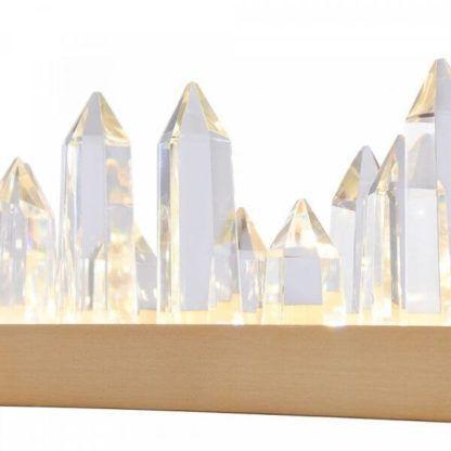 lampa wisząca z kryształkami stalagmitami