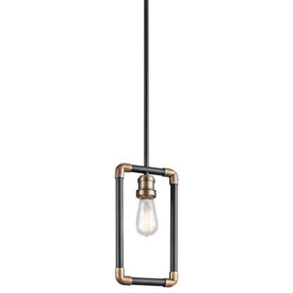 industrialna lampa wisząca, metalowa oprawka