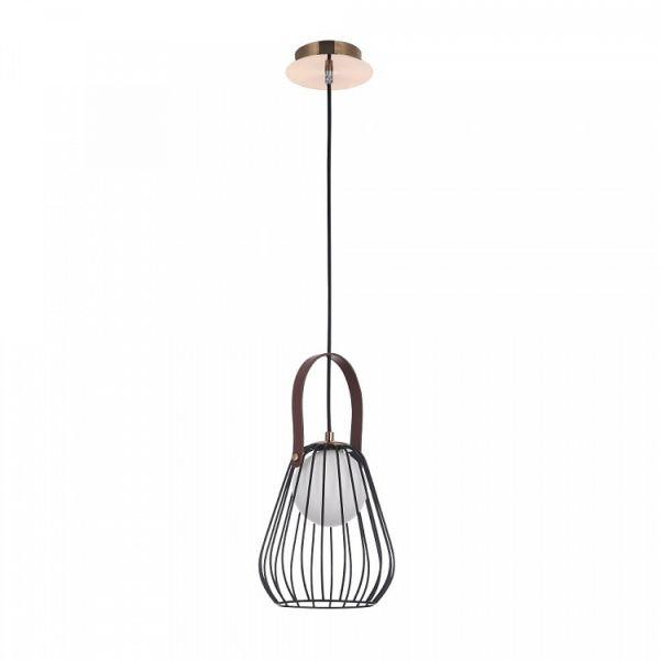 nowoczesna lampa wisząca z czarnych prętów