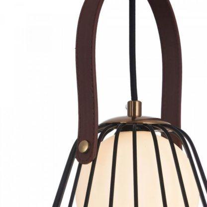 skandynawska lampa wisząca z czarnych drutów