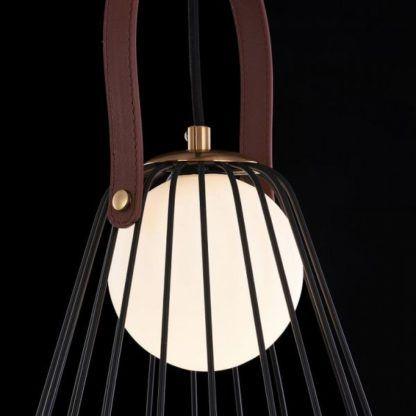 metalowa, ażurowa lampa wisząca, czarna, nowoczesna