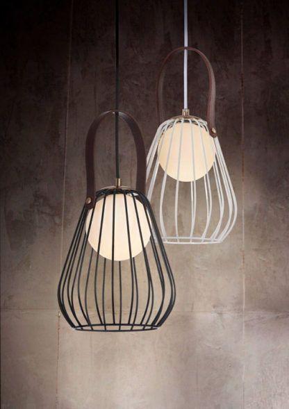 druciana lampa wisząca w stylu skandynawskim