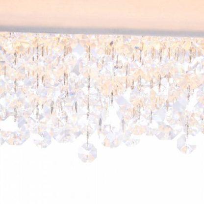 biała lampa wisząca z dekoracyjnymi kryształkami, nowoczesna