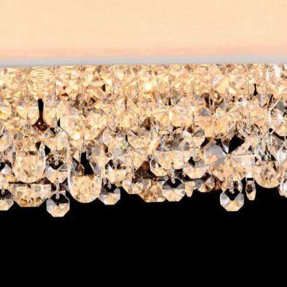 nowoczesna, jasna lampa wisząca z kryształami