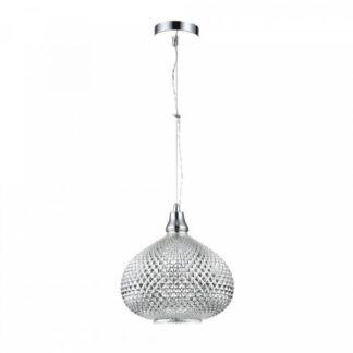 Efektowna lampa wisząca Moreno - Maytoni - szklana kopuła