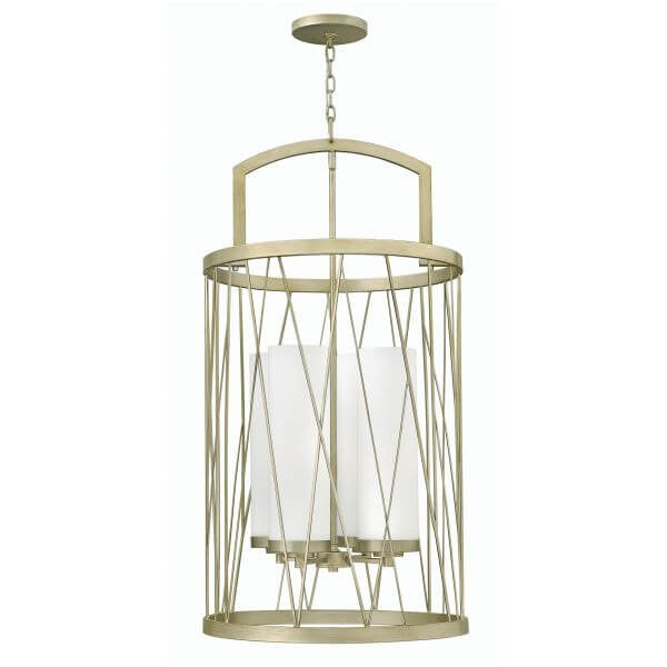 okrągła lampa typu lampion, złota