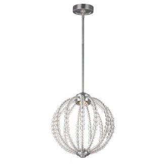 Lampa wisząca Oberlin - Ardant Decor - srebrna, szklane kule