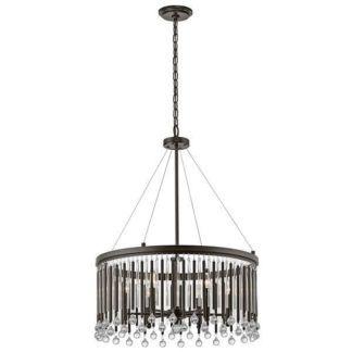 Dekoracyjna lampa wisząca Piper - Ardant Decor - brązowa, kryształki