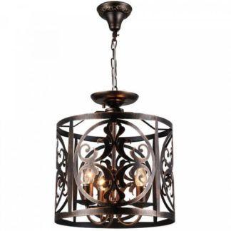 Metalowa lampa wisząca klasyczna Rustika - Maytoni - ciemny brąz