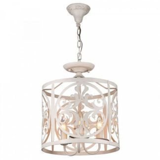 Kremowa lampa wisząca Rustika - Maytoni - ażurowa