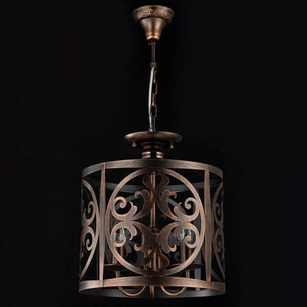 Metalowa lampa wisząca klasyczna Rustika – Maytoni – ciemny brąz
