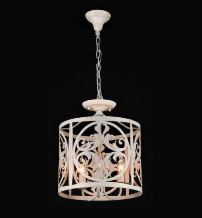 lampa wisząca w stylu rustykalnym, beżowa, metalowa