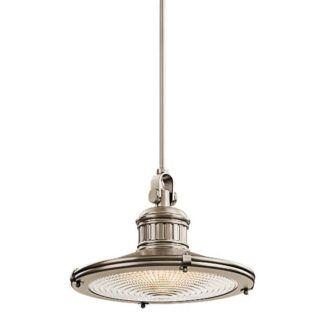 Industrialna lampa wisząca Sayre - Ardant Decor - metalowa, srebra