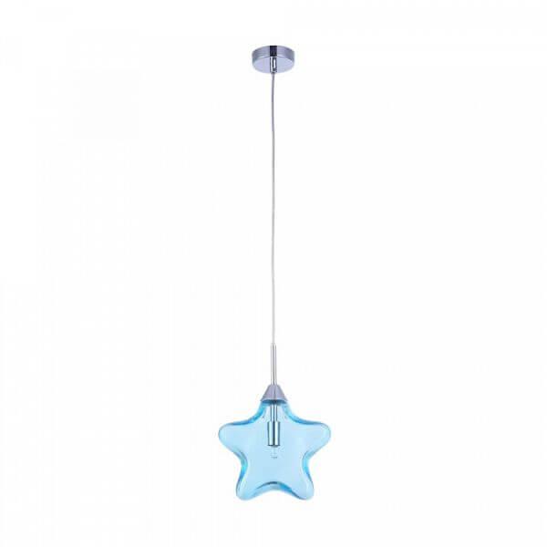 szklana gwiazdka lampa wisząca do pokoju dziecięcego