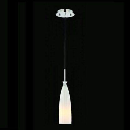 Smukła lampa wisząca Toot - Maytoni - białe szkło