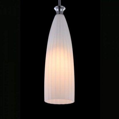 lampa wisząca w stylu skandynawskim, klosz z białego szkła