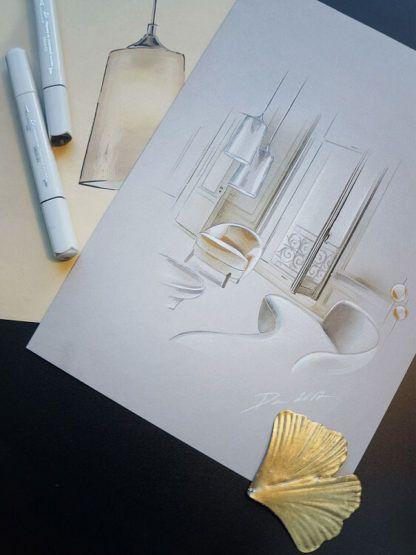 biała lampa wisząca, nowoczesna, szklana