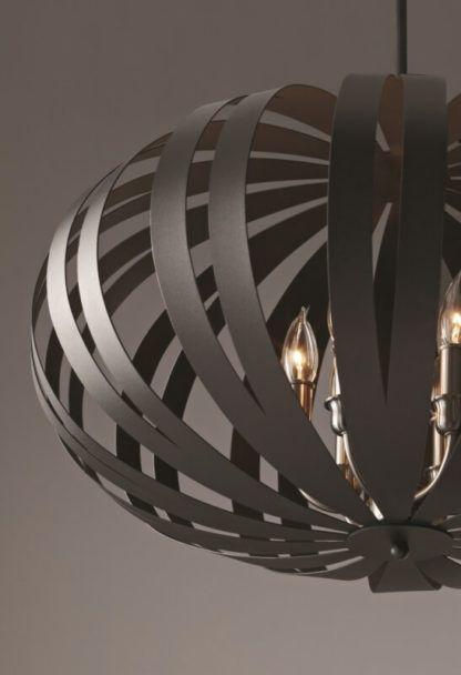 brązowy żyrandol duża kula, oryginalny design