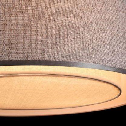 szara lampa sufitowa z abażurem i dyfuzorem