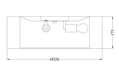 lampa sufitowa szarym abażurem, nowoczesna, skandynawska