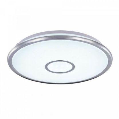 plafon okrągły z okrągłym kloszem, zimne światło