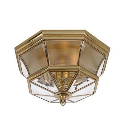 złoty plafon ze szklanymi ściankami, styl art deco