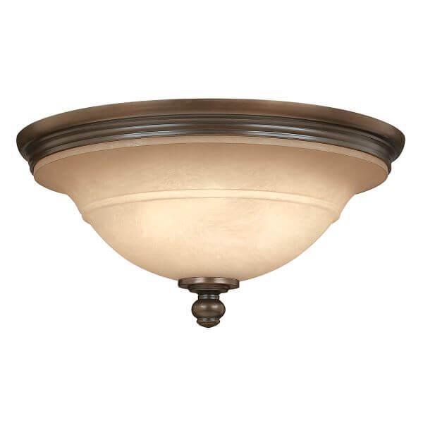 klasyczna lampa sufitowa z bursztynowym kloszem