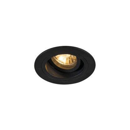 okrągłe, czarne oczko sufitowe mobilne