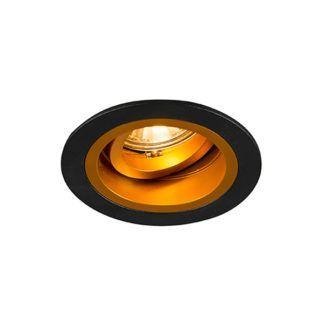 Czarne oczko sufitowe Chuck Round - nowoczesne