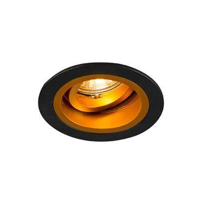 okrągłe, czarno-złote oczko sufitowe