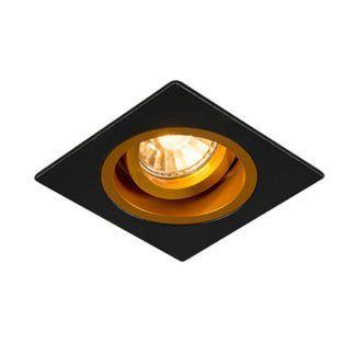 Czarne oczko sufitowe Chuck - Zuma Line - regulowany reflektor