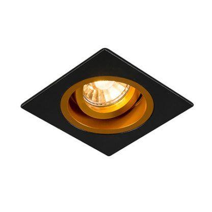 kwadratowe oczko sufitowe czarno-złote