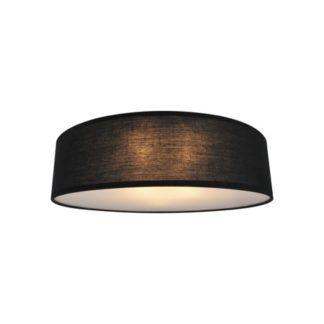 Czarna lampa sufitowa Clara - Zuma Line - tekstylny abażur