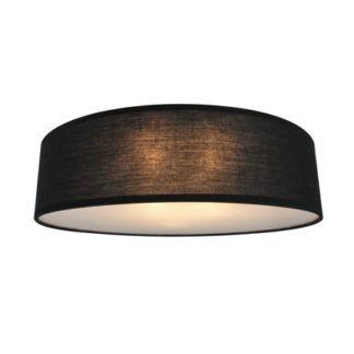 Duża lampa sufitowa Clara - Zuma Line - czarny abażur