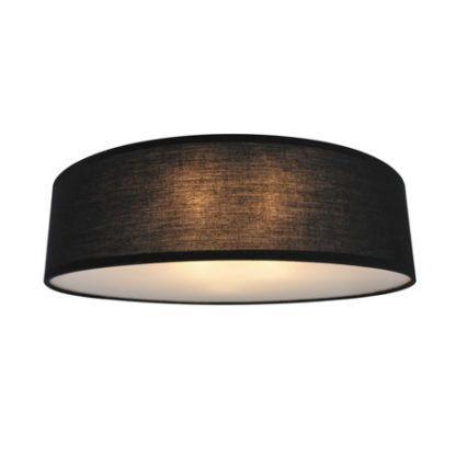 lampa sufitowa z ciemnym abażurem