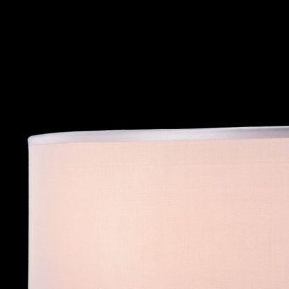okrągły plafon z szarym abażurem