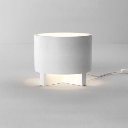 lampa stołowa z gipsu