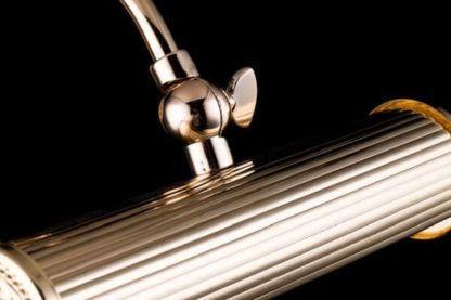 złoty kinkiet podłużny, klasyczny, oświetlenie dodatkowe