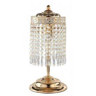 Elegancka lampa stołowa Bella - złota, kryształki